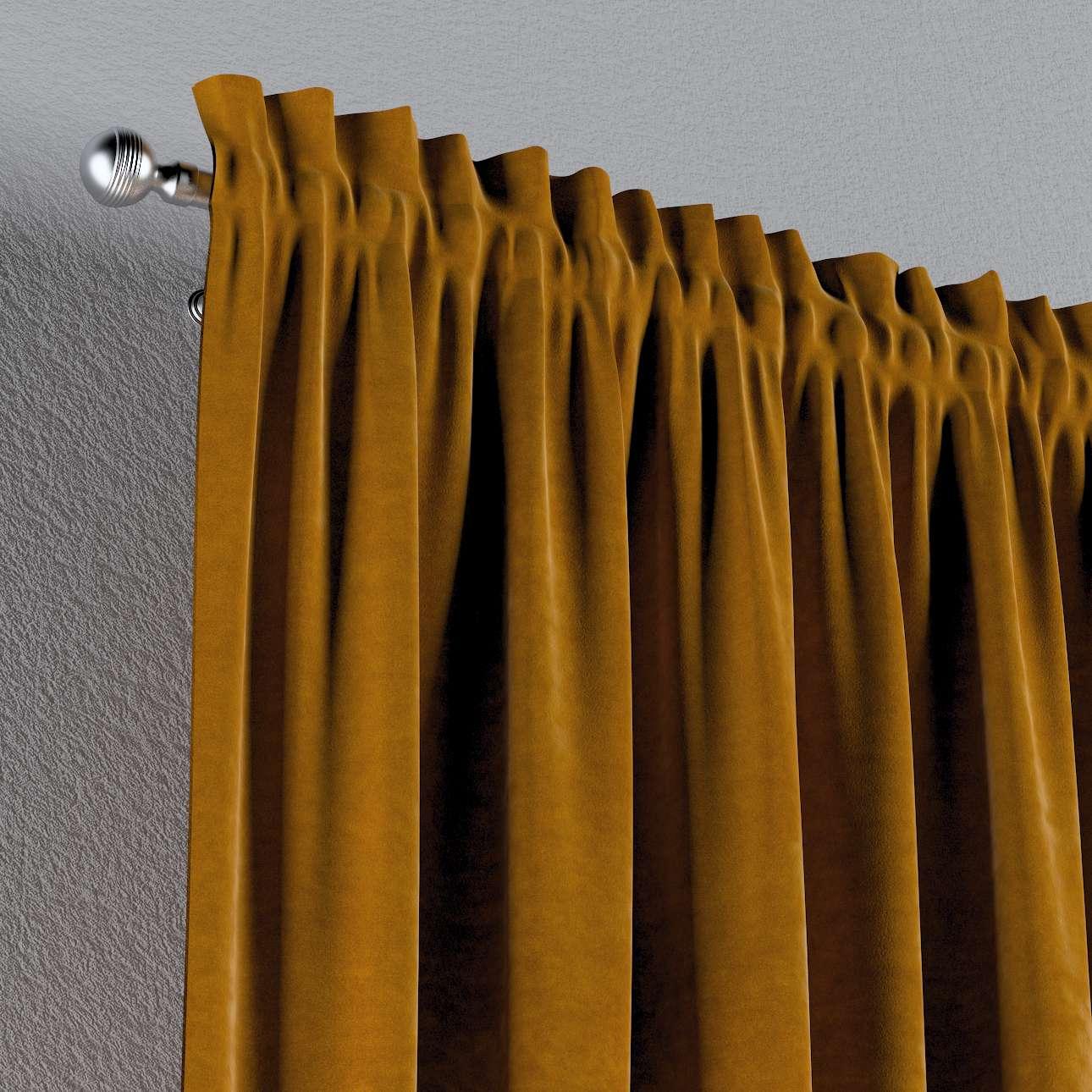 Zasłona na kanale z grzywką 1 szt. w kolekcji Velvet, tkanina: 704-23
