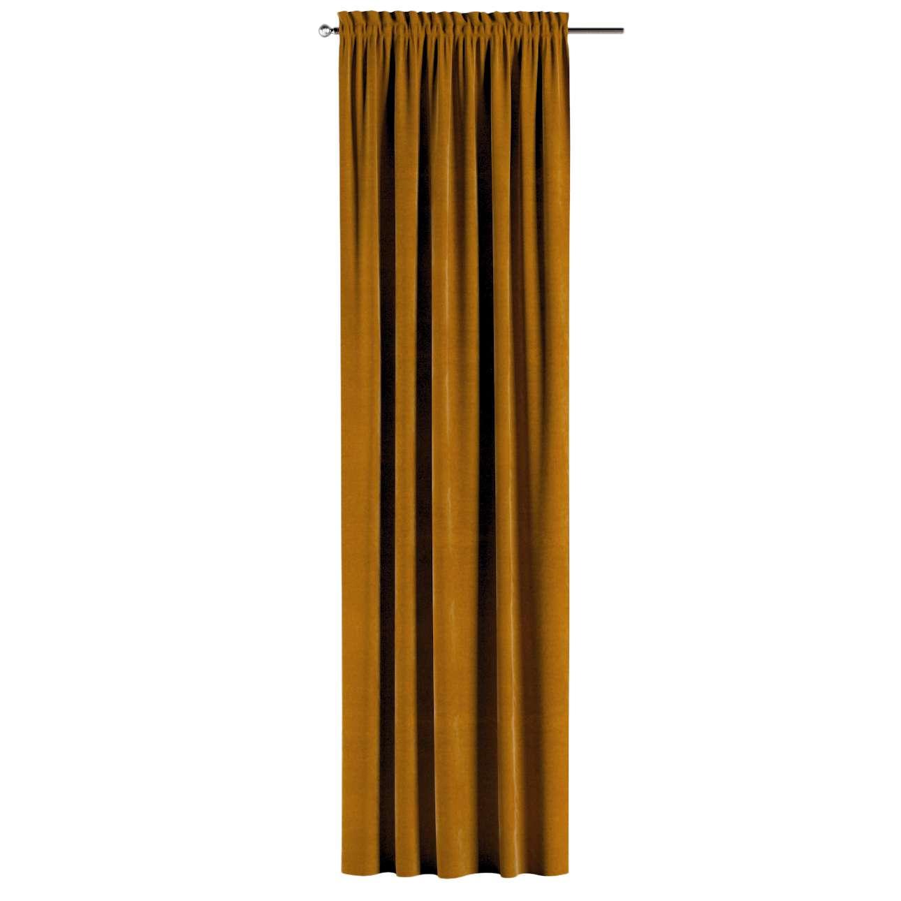 Vorhang mit Tunnel und Köpfchen von der Kollektion Velvet, Stoff: 704-23