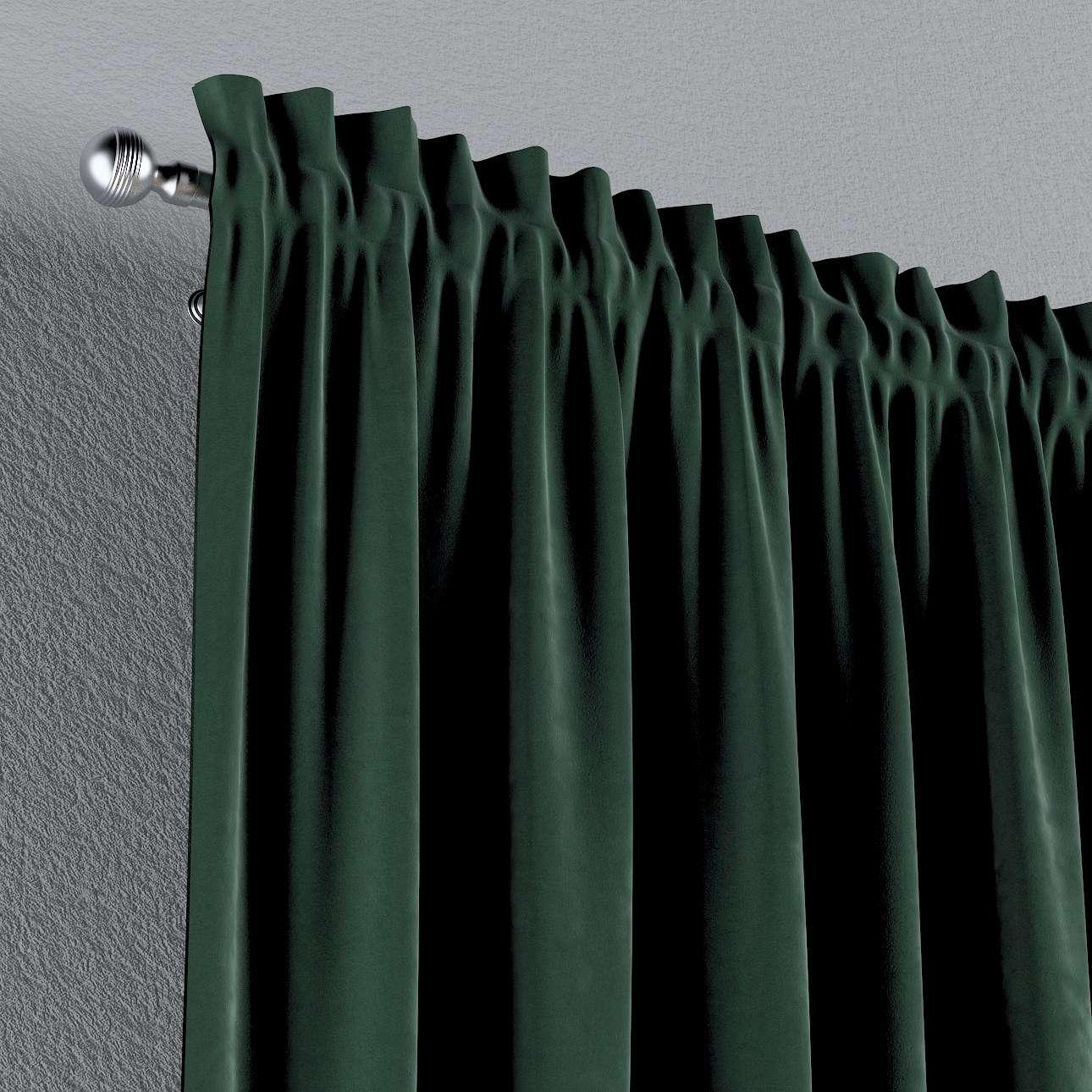 Zasłona na kanale z grzywką 1 szt. w kolekcji Velvet, tkanina: 704-25