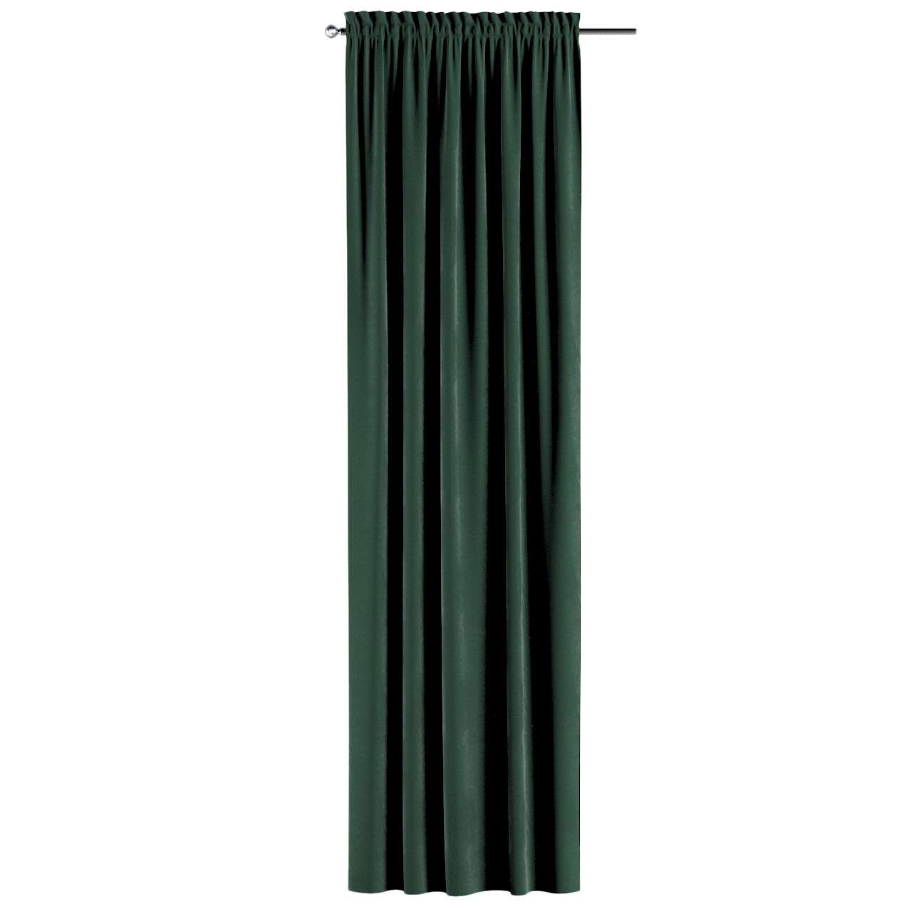 Záves s navliekacou riasiacou páskou V kolekcii Velvet, tkanina: 704-25