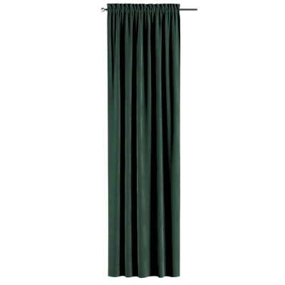 Gardin med kanal och rynkband för fingerkrokar - 1 längd i kollektionen Velvet, Tyg: 704-25