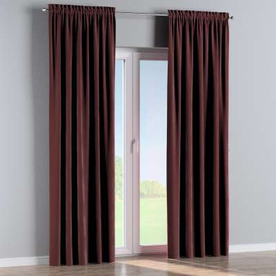 Slot and frill curtain 704-26 burgundy Collection Velvet