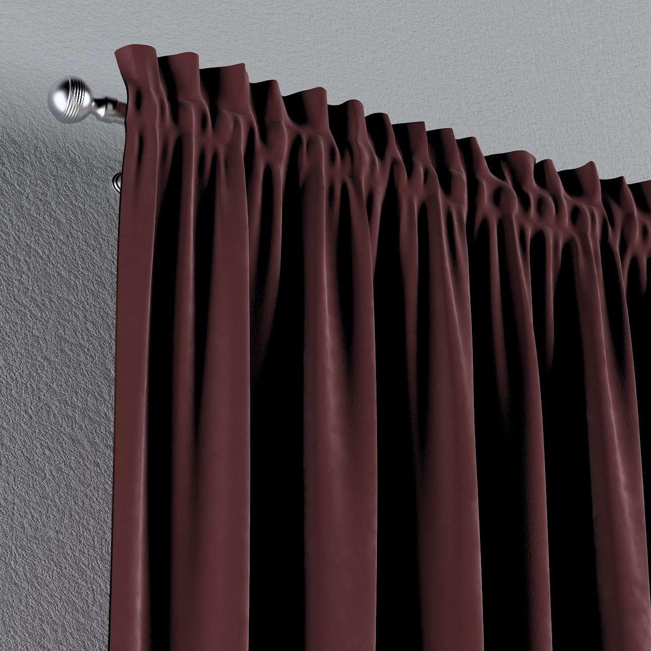 Gardin med kanal - Multiband 1 längd i kollektionen Velvet, Tyg: 704-26
