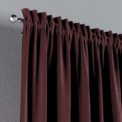Záves s navliekacou riasiacou páskou V kolekcii Velvet, tkanina: 704-26