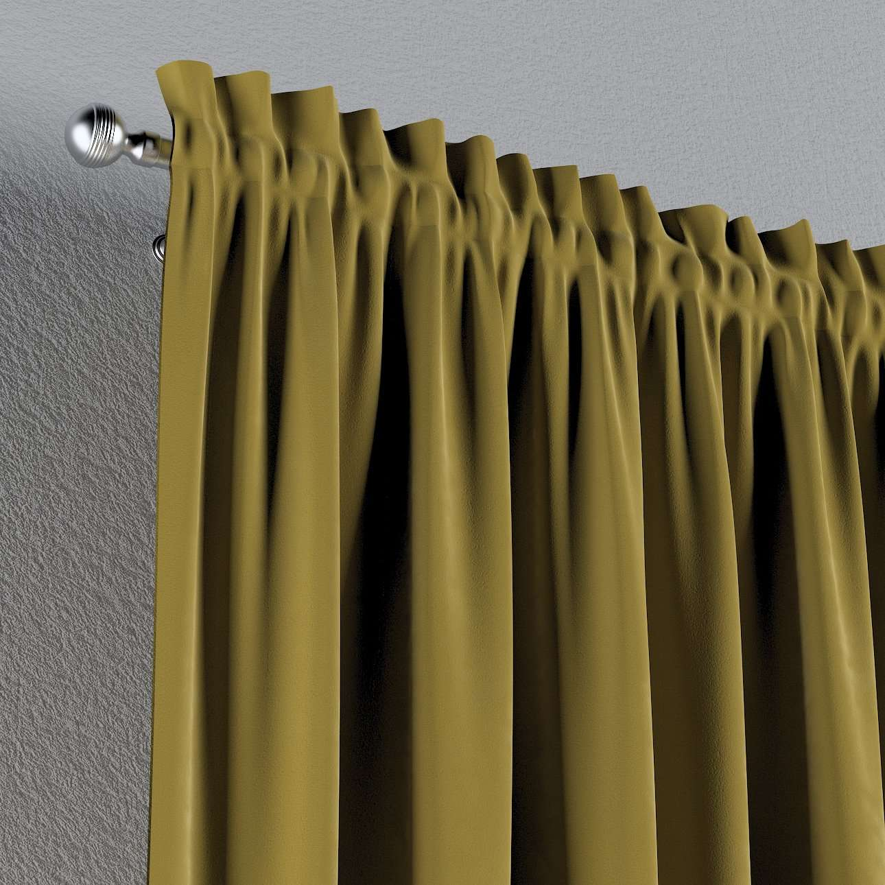 Vorhang mit Tunnel und Köpfchen von der Kollektion Velvet, Stoff: 704-27