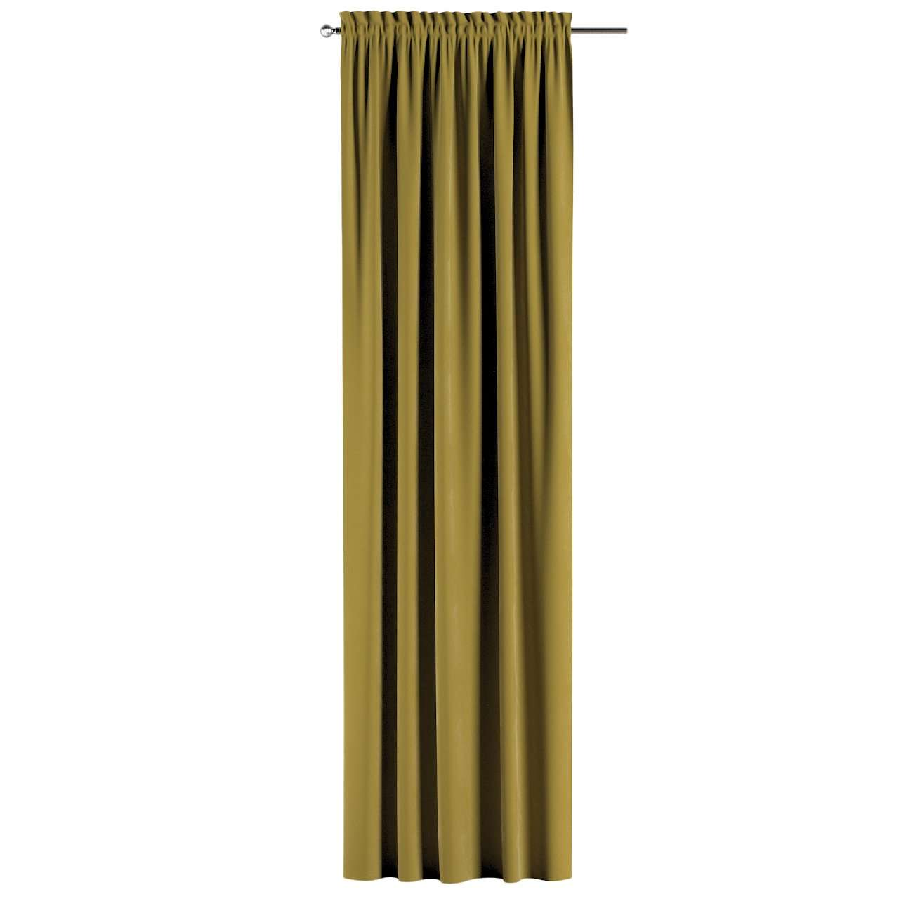 Zasłona na kanale z grzywką 1 szt. w kolekcji Velvet, tkanina: 704-27