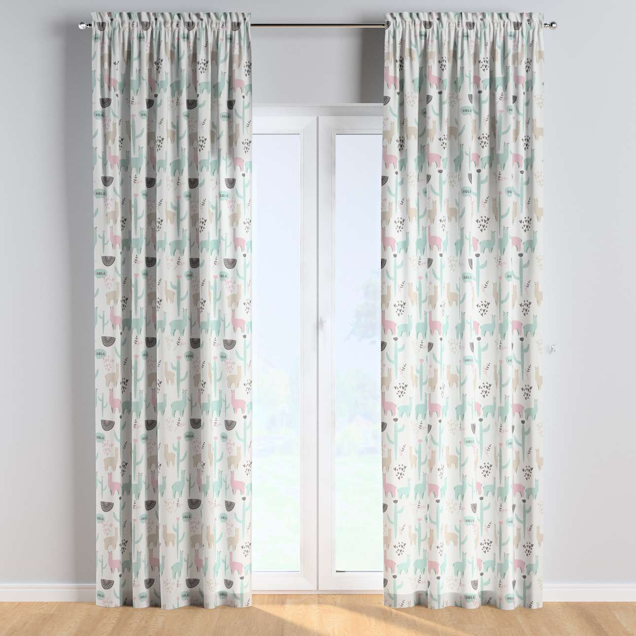 Slot and frill curtains in collection Magic Collection, fabric: 500-01