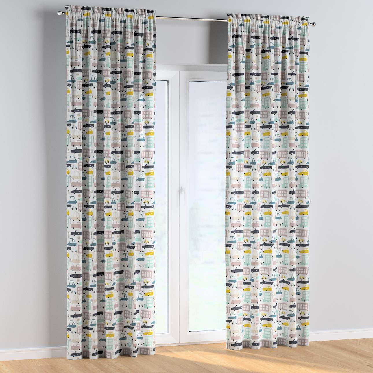Slot and frill curtains in collection Magic Collection, fabric: 500-02