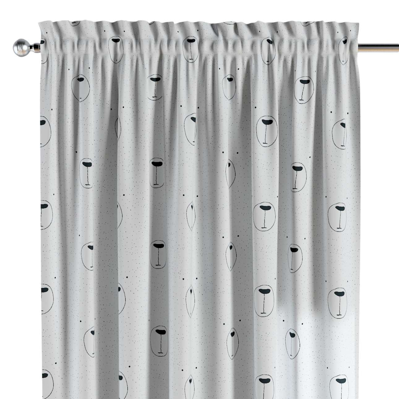Slot and frill curtains in collection Magic Collection, fabric: 500-06