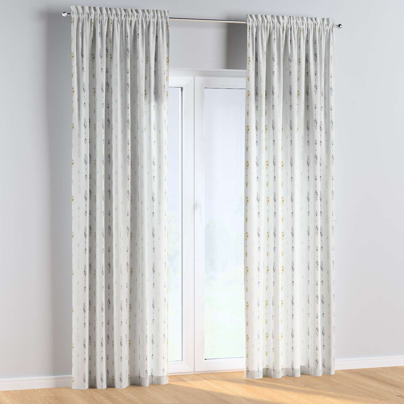 Slot and frill curtains in collection Magic Collection, fabric: 500-07