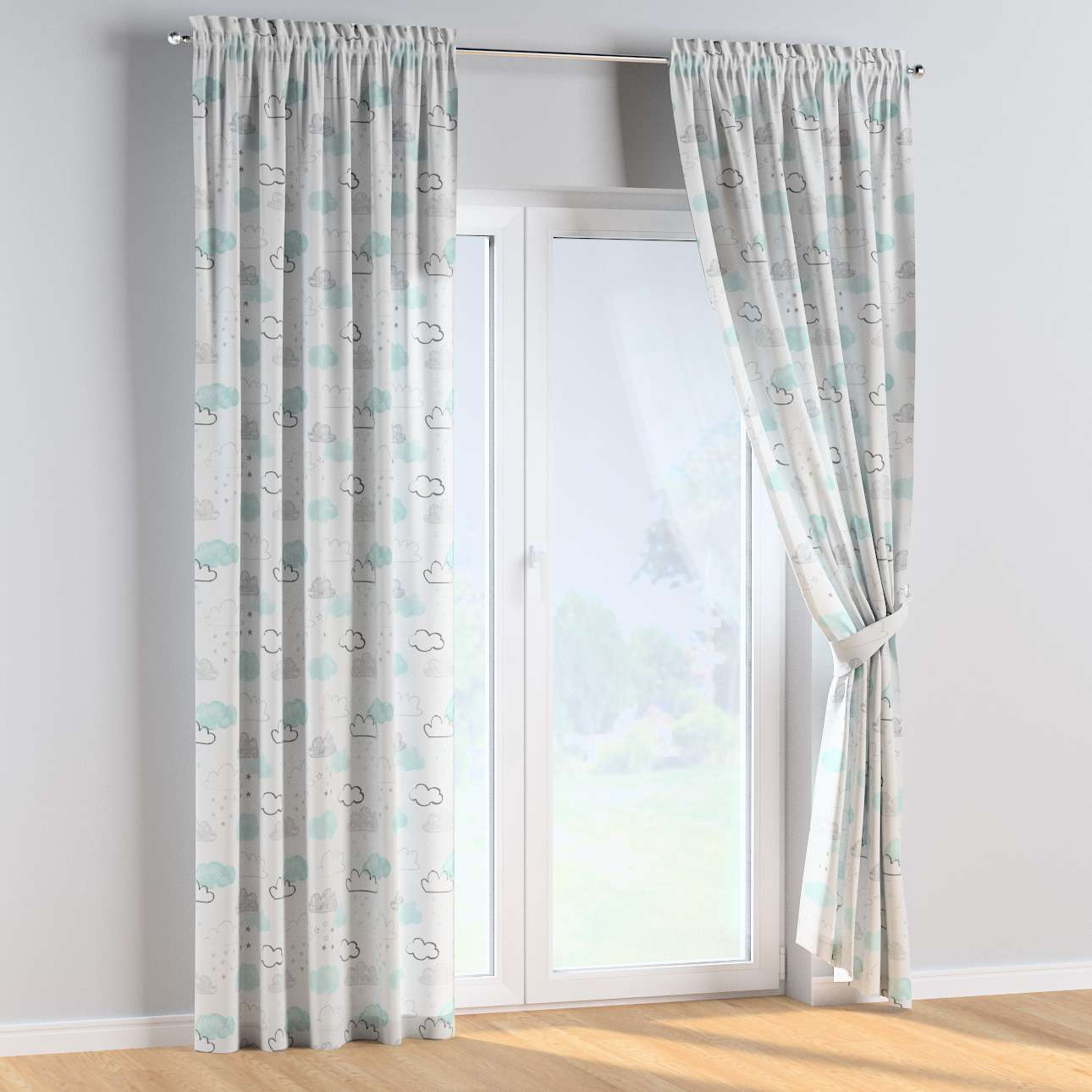 Slot and frill curtains in collection Magic Collection, fabric: 500-14