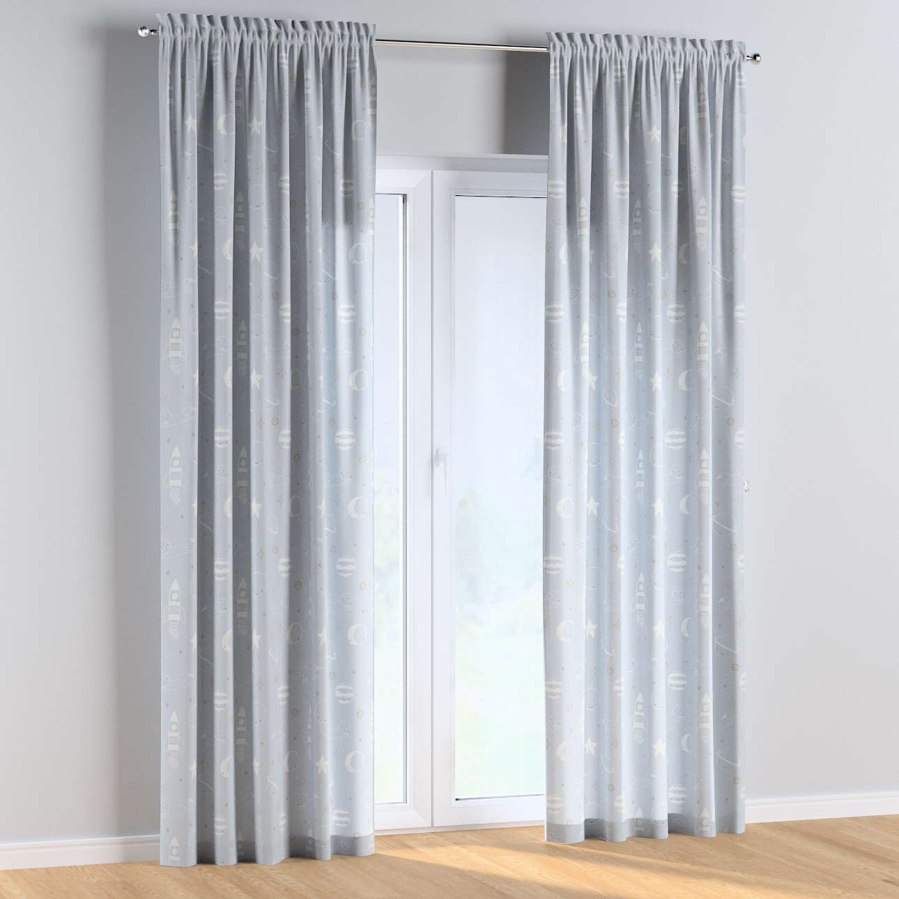 Slot and frill curtains in collection Magic Collection, fabric: 500-16