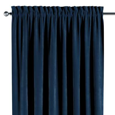 Slot and frill curtain 704-29 navy blue Collection Velvet