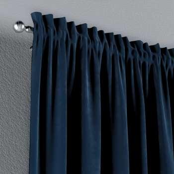 Zasłona na kanale z grzywką 1 szt. w kolekcji Velvet, tkanina: 704-29