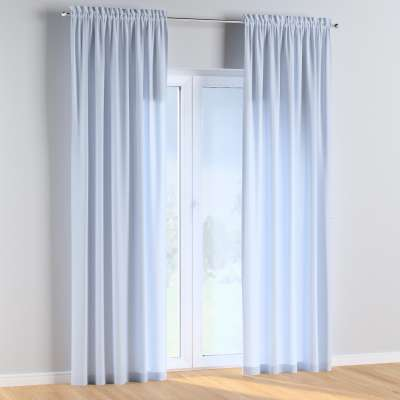 Slot and frill curtains 133-35 baby blue Collection Happiness