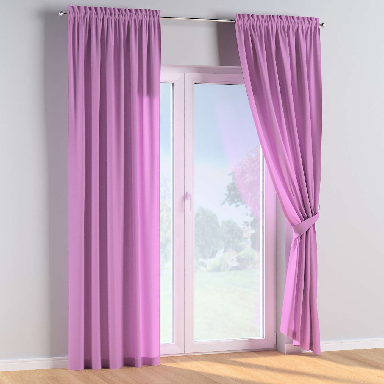 Slot and frill curtains in collection Happiness, fabric: 133-38