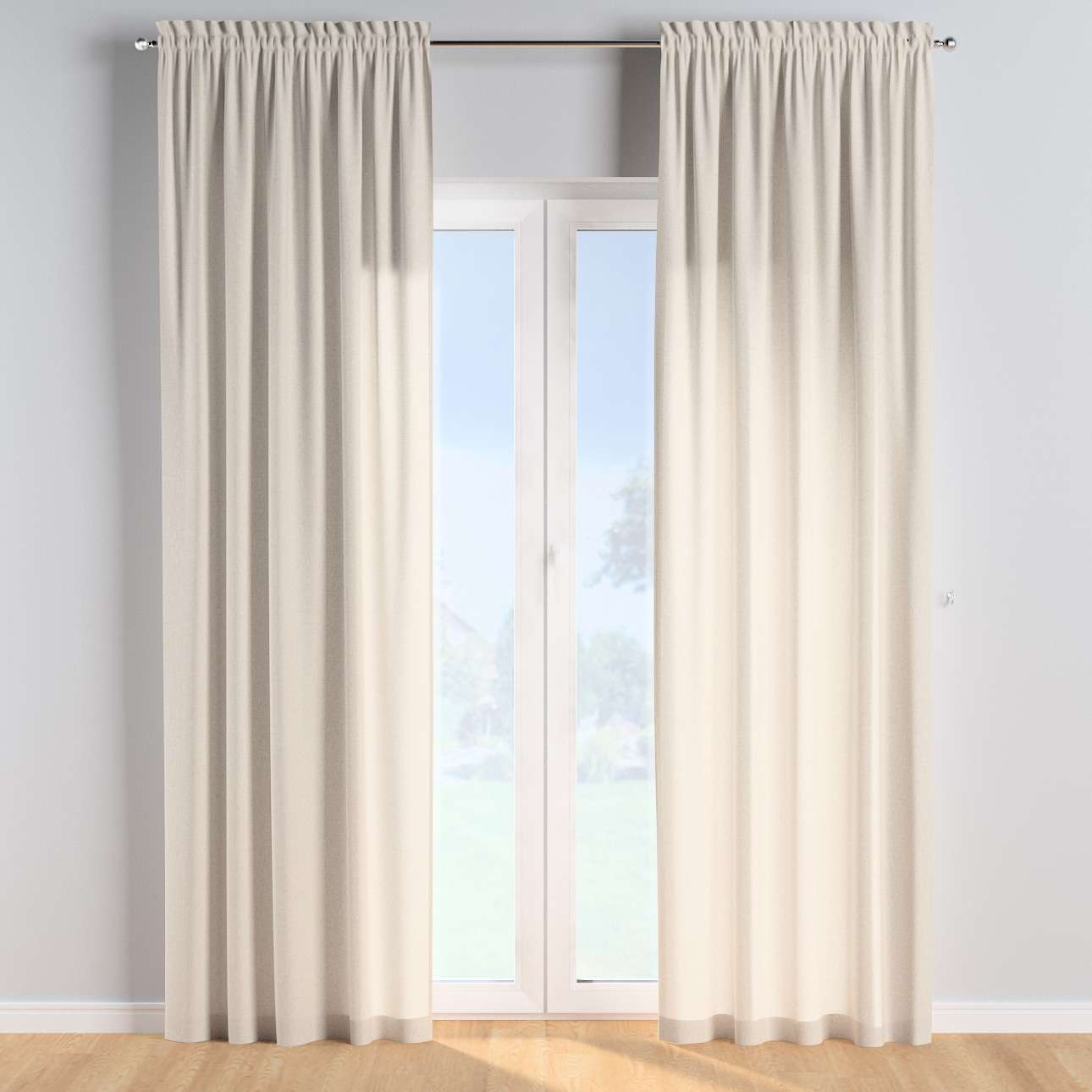 Slot and frill curtains in collection Happiness, fabric: 133-65