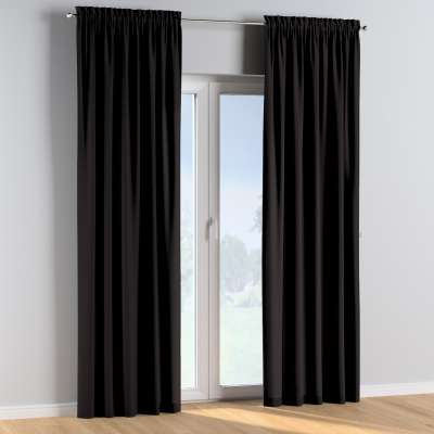 Slot and frill curtains 702-09 black Collection Cotton Story