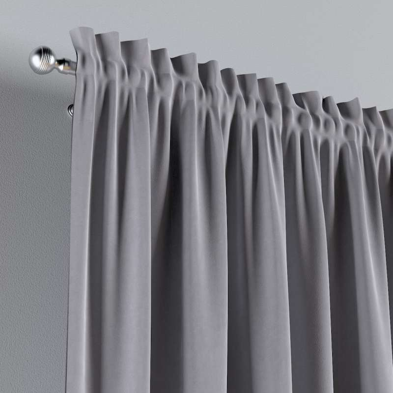 Slot and frill curtains in collection Posh Velvet, fabric: 704-24