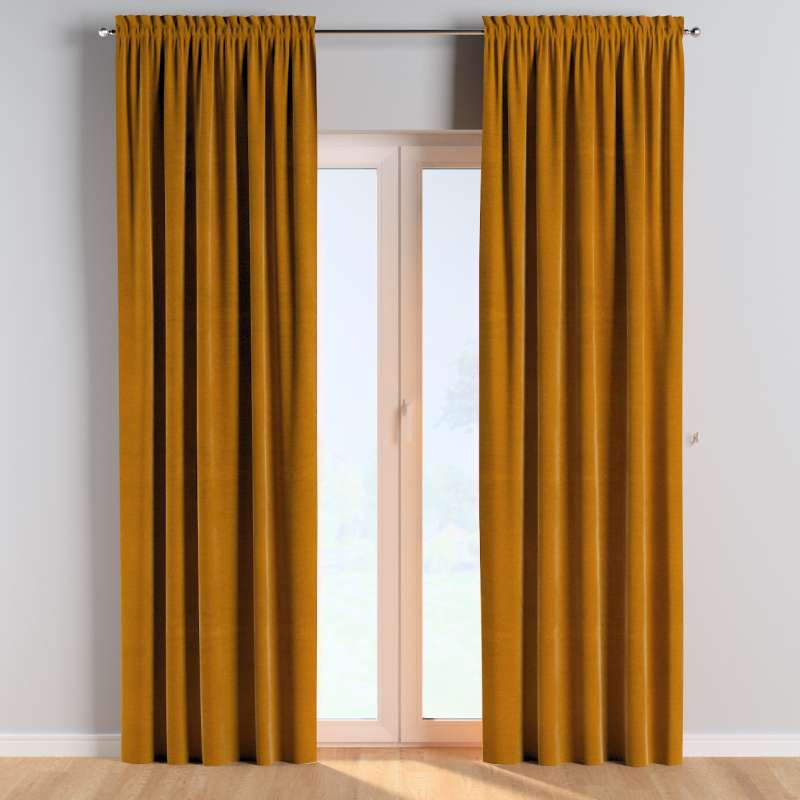 Slot and frill curtains in collection Posh Velvet, fabric: 704-23