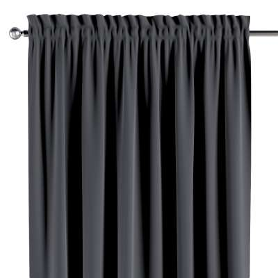 Slot and frill curtains 704-12 graphite grey Collection Posh Velvet