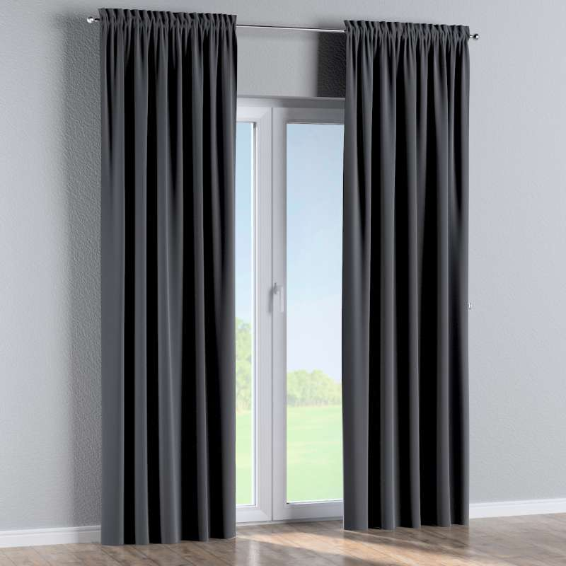 Slot and frill curtains in collection Posh Velvet, fabric: 704-12