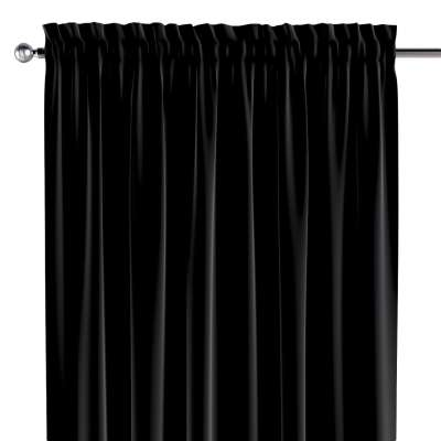 Slot and frill curtains 704-17 black Collection Posh Velvet