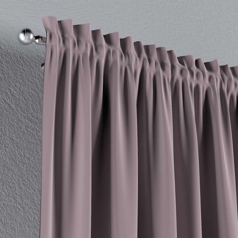 Slot and frill curtains in collection Posh Velvet, fabric: 704-14