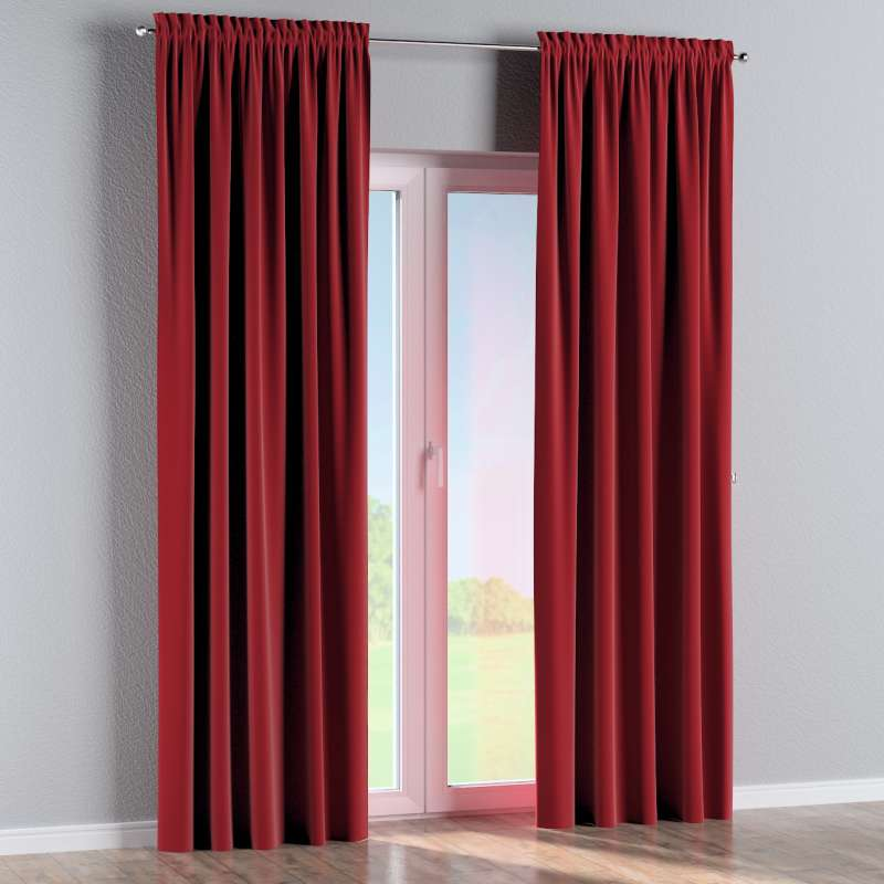 Slot and frill curtains in collection Posh Velvet, fabric: 704-15
