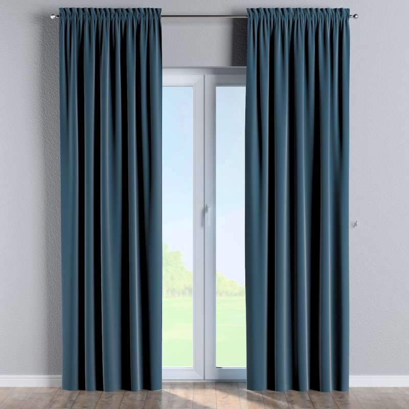 Slot and frill curtains in collection Posh Velvet, fabric: 704-16