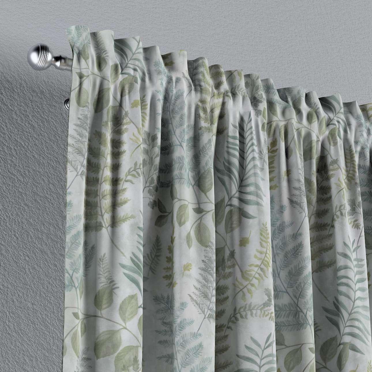 Zasłona na kanale z grzywką 1 szt. w kolekcji Pastel Forest, tkanina: 142-46
