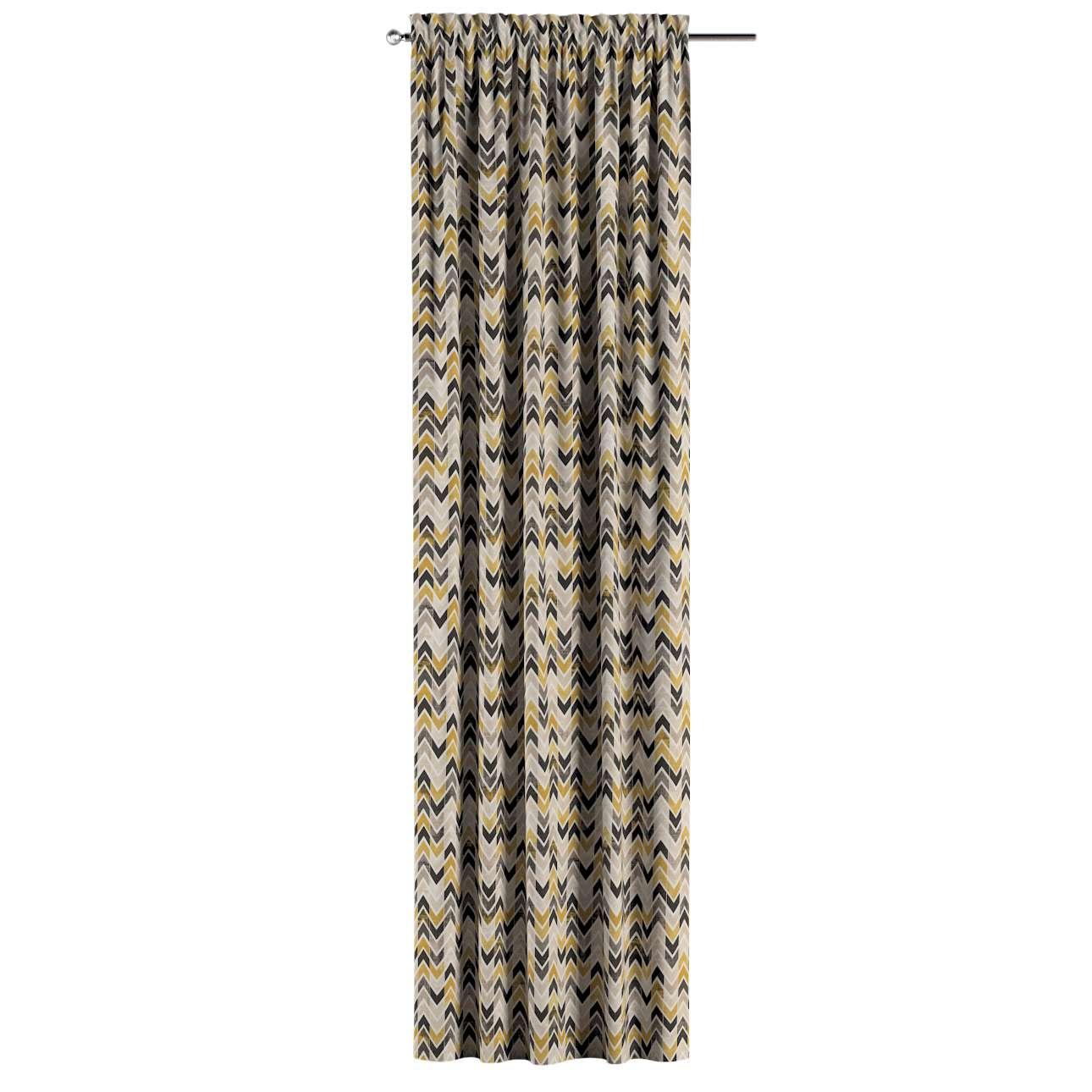 Vorhang mit Tunnel und Köpfchen von der Kollektion Modern, Stoff: 142-79