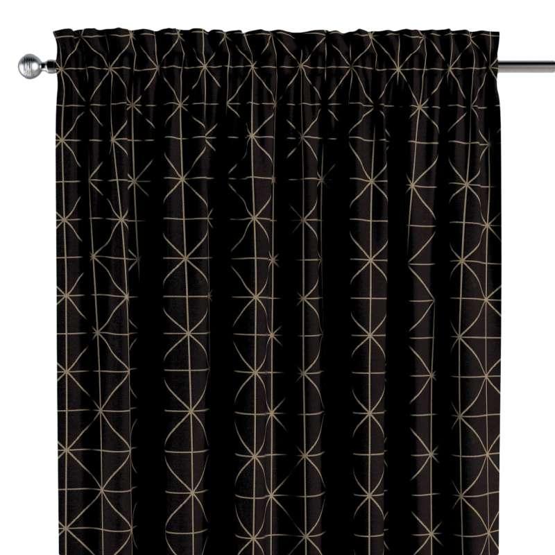 Záves s navliekacou riasiacou páskou V kolekcii Black & White, tkanina: 142-55
