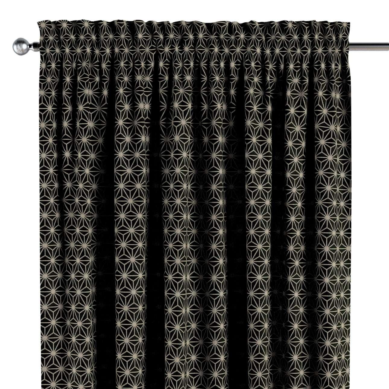 Záves s navliekacou riasiacou páskou V kolekcii Black & White, tkanina: 142-56