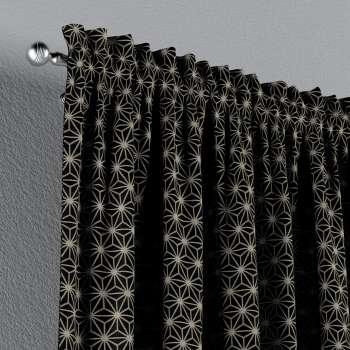Gordijn met tunnel  van de collectie Black & White, Stof: 142-56