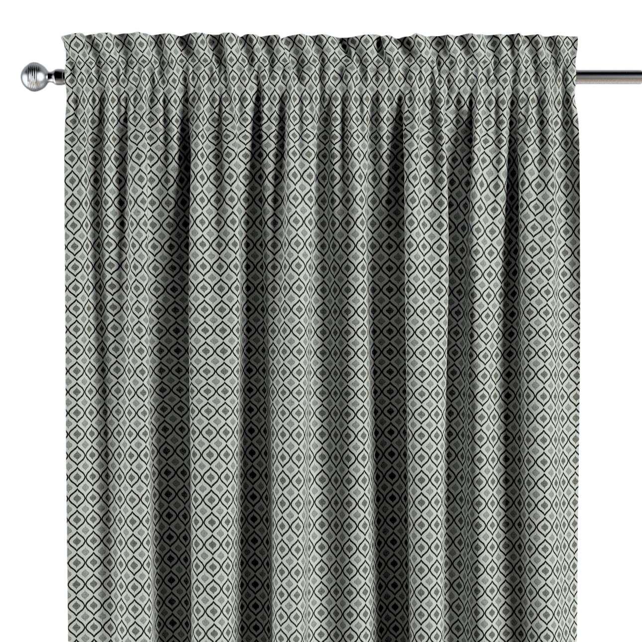 Gardin med kanal - Multiband 1 längd i kollektionen Black & White, Tyg: 142-76