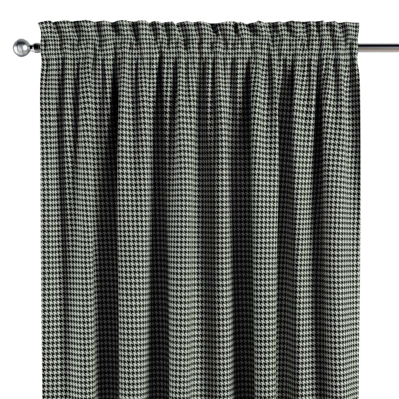 Zasłona na kanale z grzywką 1 szt. w kolekcji Black & White, tkanina: 142-77