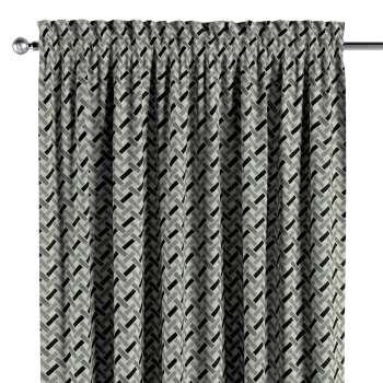 Vorhang mit Tunnel und Köpfchen von der Kollektion Black & White, Stoff: 142-78