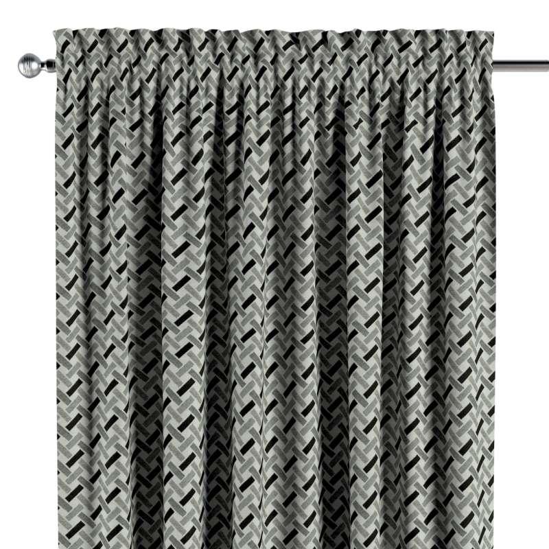 Záves s navliekacou riasiacou páskou V kolekcii Black & White, tkanina: 142-78