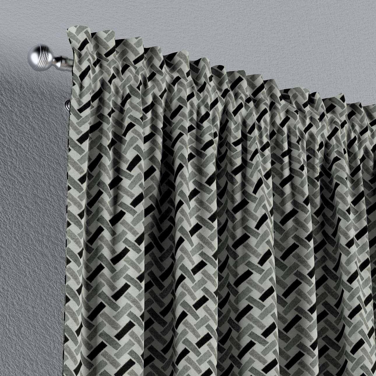 Gardin med løbegang - multibånd 1 stk. fra kollektionen Black & White, Stof: 142-78