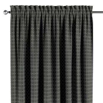 Gardin med kanal - Multiband 1 längd i kollektionen Black & White, Tyg: 142-86