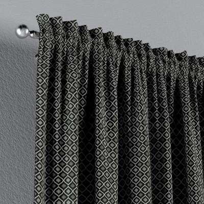 Zasłona na kanale z grzywką 1 szt. w kolekcji Black & White, tkanina: 142-86