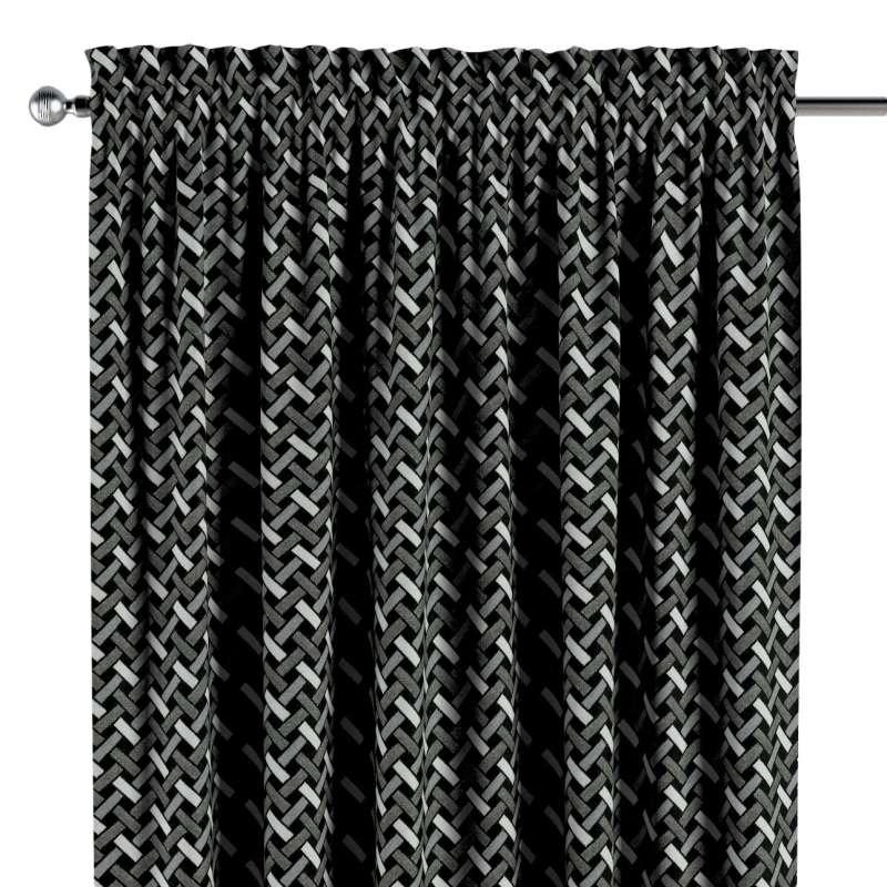 Gardin med løbegang - multibånd 1 stk. fra kollektionen Black & White, Stof: 142-87
