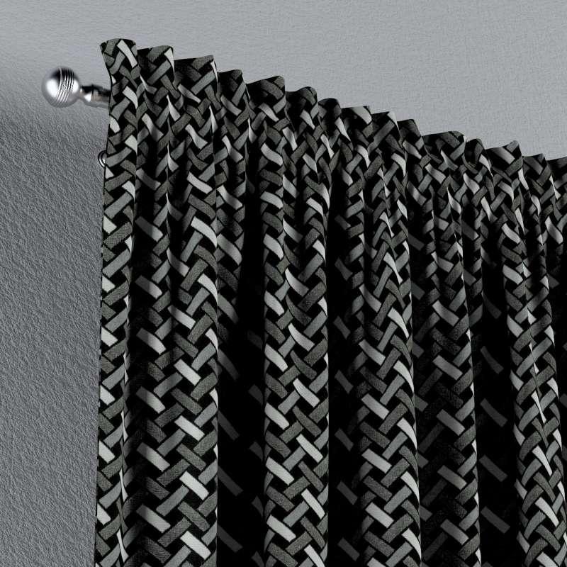 Záves s navliekacou riasiacou páskou V kolekcii Black & White, tkanina: 142-87