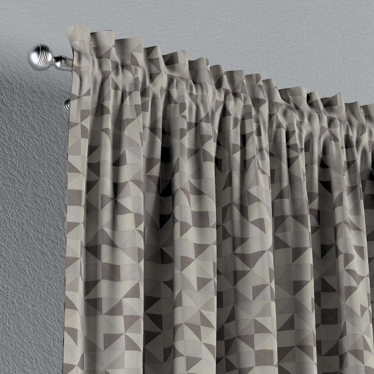 Vorhang mit Tunnel und Köpfchen von der Kollektion Retro Glam, Stoff: 142-85
