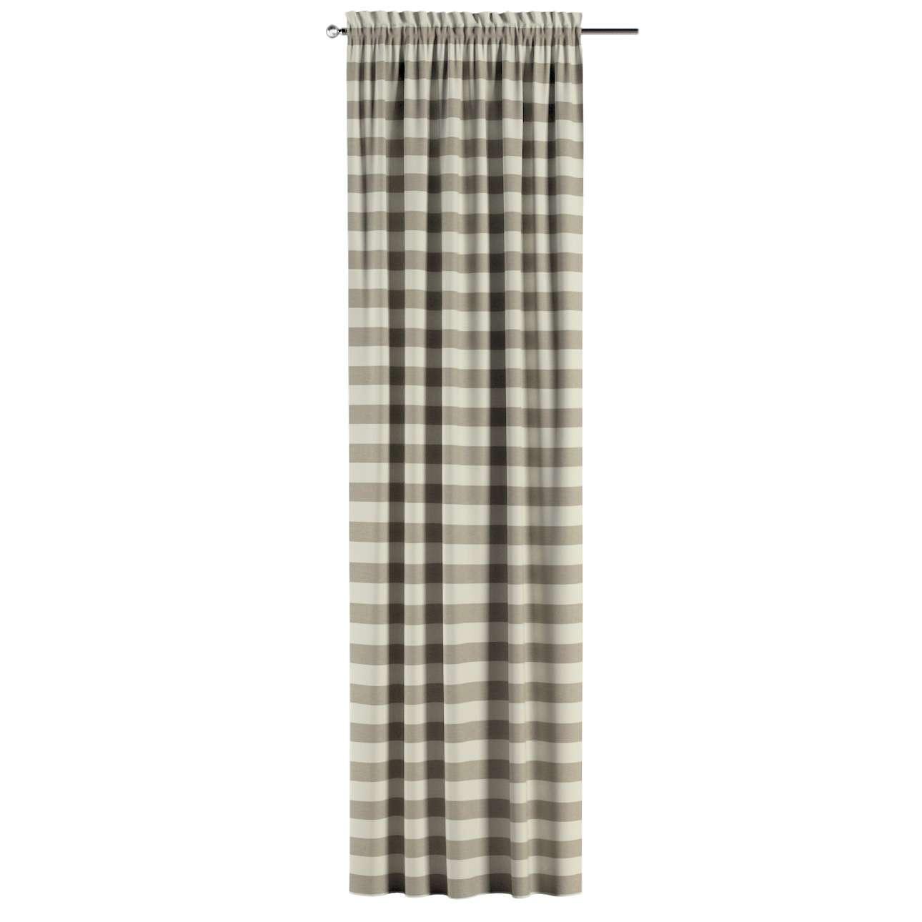 Zasłona na kanale z grzywką 1 szt. w kolekcji Quadro, tkanina: 142-73