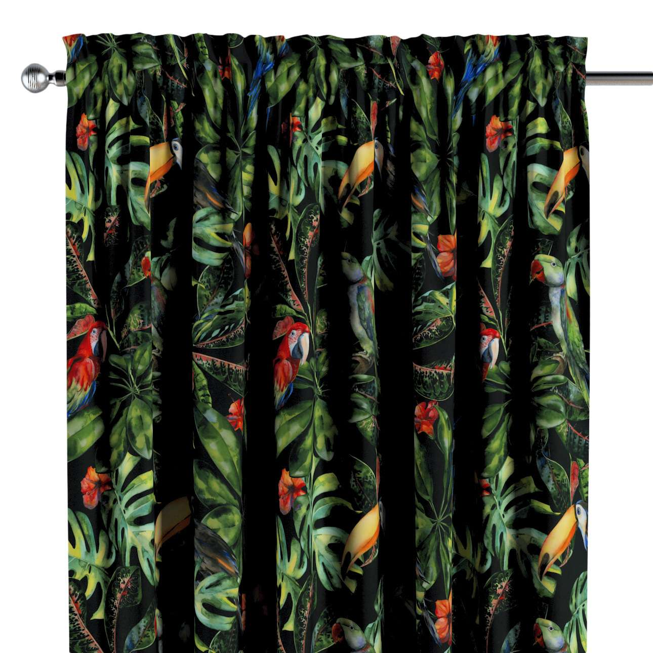 Slot and frill curtains in collection Velvet, fabric: 704-28