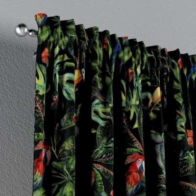 Zasłona na kanale z grzywką 1 szt. w kolekcji Velvet, tkanina: 704-28