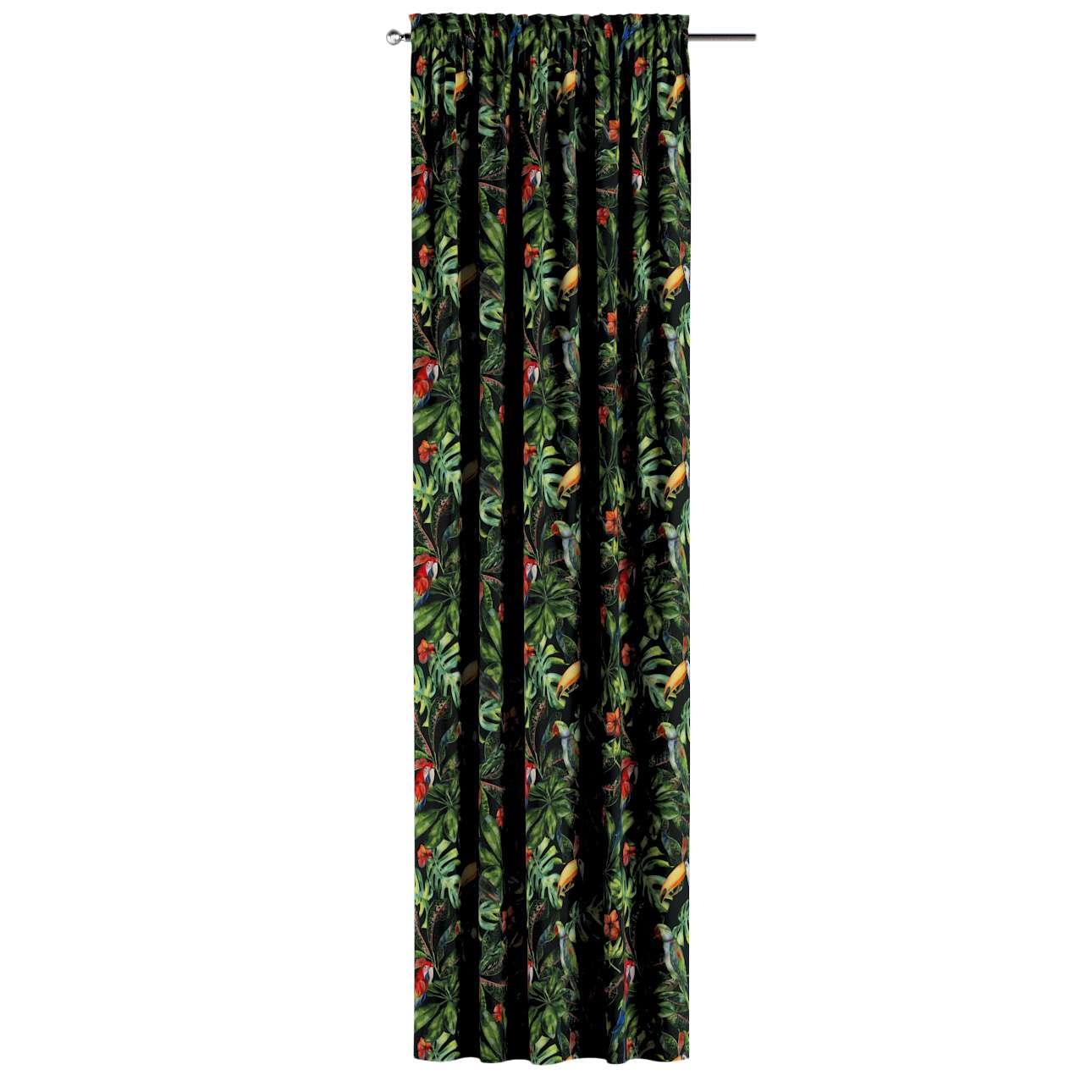 Vorhang mit Tunnel und Köpfchen von der Kollektion Velvet, Stoff: 704-28