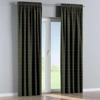 Zasłona na kanale z grzywką 1 szt. w kolekcji Bristol, tkanina: 142-69